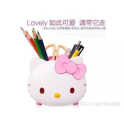 韩国文具可爱粉色kitty造型储存罐 学生铅笔收纳盒笔筒小女孩礼物