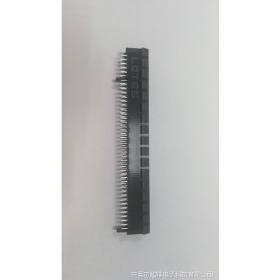 现货LOTES PCI-e 164P 显卡插槽 无耳 塑胶导柱 2.3/2.54/3.1/3