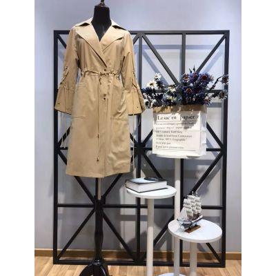 琦丽莎品牌春季新款风衣一手货源供货平台