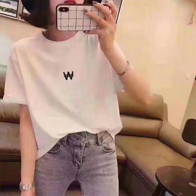 广西女式短袖T恤夏装 日系学生印花半袖女装便宜衣服上衣地摊货源微信批发
