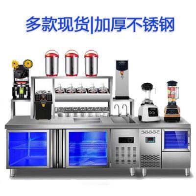 奶茶店操作台多少钱_河南隆恒贸易产品质保/LH牌奶茶吧台操作台