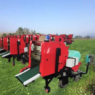 长安区青贮草料打包机 每小时4吨青贮打捆机 使用灵活包膜机