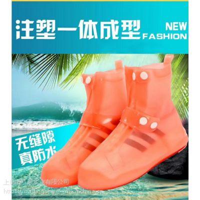 2019新款一体成型非一次性中高筒注塑防水防雨鞋套