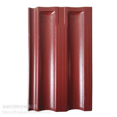 山东淄博釉面瓦厂家-23*38cm釉子瓦、屋面陶瓷瓦、全瓷瓦、红瓦、陶瓷瓦、粘土瓦、陶土瓦-不龟裂