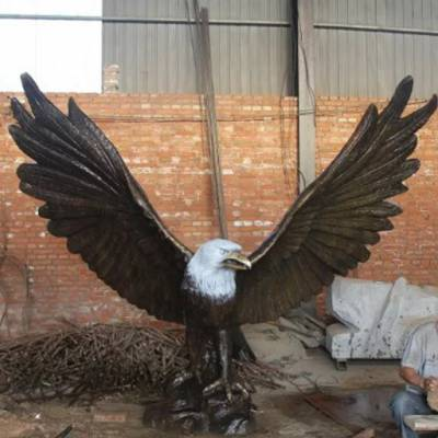 吉林铜鹰-天顺雕塑-白头铜鹰雕塑