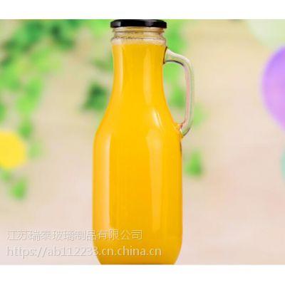 新款果蔬饮料玻璃瓶芒果汁猕猴桃汁果酒空瓶1.5L食用饮料瓶酵素瓶