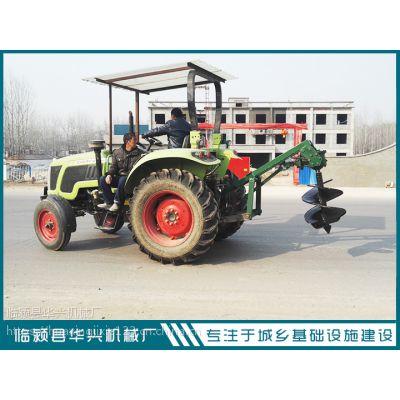 拖拉机带植树挖坑机厂家 河南打穴机