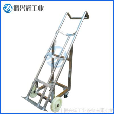 深圳振兴辉厂家现货供应不锈钢氧气瓶搬运手推车定做