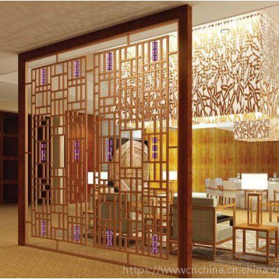 新中式型材铝窗花设计,简约形式中国风铝花格