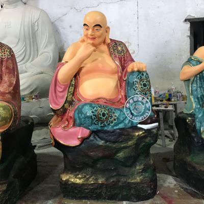 寺院玻璃钢彩绘十八罗汉佛像 木雕十八尊者佛像图片报价