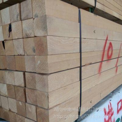 广东建筑木方 工地常用铁杉木方 纹理清晰 不易变形 中南神箭大量批发