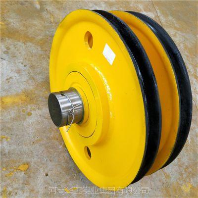 亚重50t耐磨港机滑轮组 横梁铸钢滑轮组 卷扬机导向轮 非标定做 优质厂家