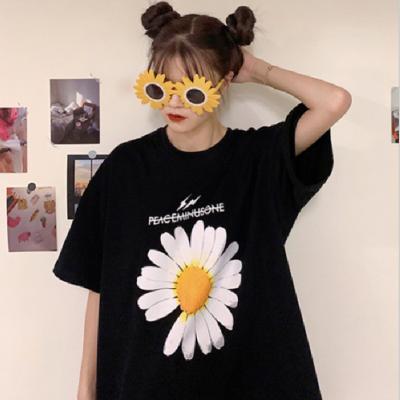 夏季新款韩版中长款短袖T恤衣服女宽松款韩版纯棉女装上海批发市场哪里好?