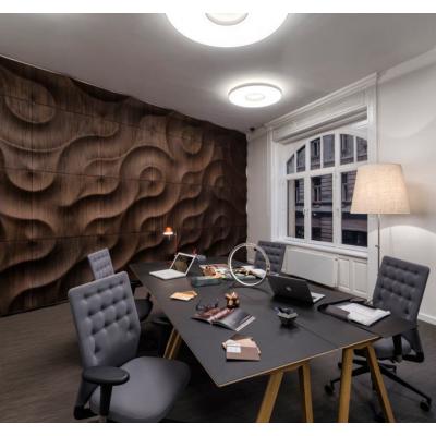 南京波浪板专业定制办公室形象墙背景墙装饰板造型板