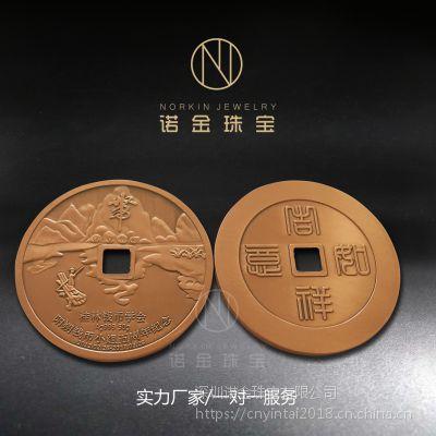纯银纪念章定制银质纪念章50克镀铜银币复古铜钱纪念礼品订做