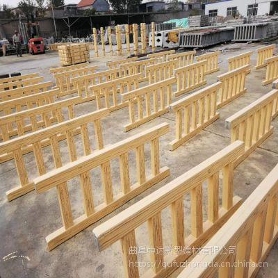 德州厂家订制水泥仿木桩 仿树皮栏杆 新农村仿树桩围栏