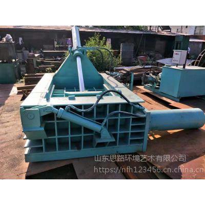 荆州市卧式金属压块机厂家电话 思路160吨轻薄废料压块机压包机料箱尺寸