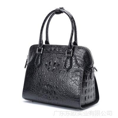 产地货源2018新款女式拉链包 泰国鳄鱼皮真皮女包3119 女士手提包