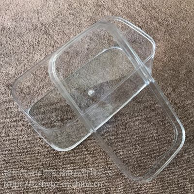 PS塑料牛乳蛋糕千层盒正方长方弧形饼干罐透明布丁杯水果打包盒