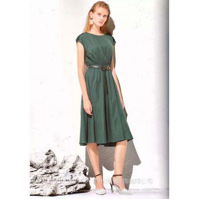 欧莎莉格女装连衣裙高端精品折扣女装品牌服装尾货批发