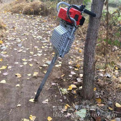 大悟县汽油起树机 果树移植断根机 启航铲式移栽机价格