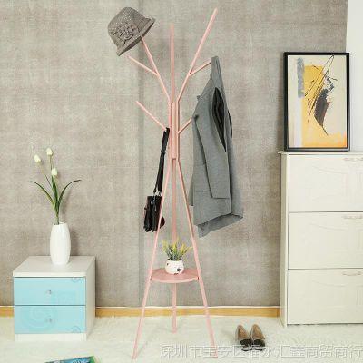 挂衣架落地卧室衣帽架创意衣服架子加粗加固金属简易衣架