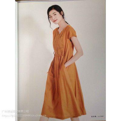 广州大码女装折扣品牌丽比多厂家一手货源清仓供应