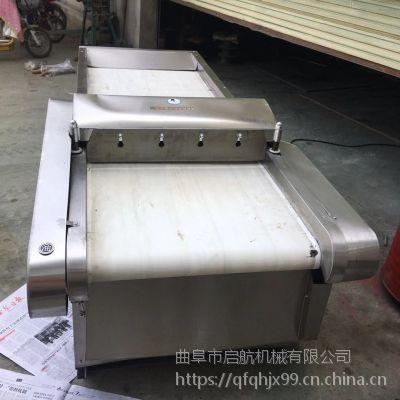 包子铺用的韭菜切段机 启航大葱切丝机视频 芹菜切丁机