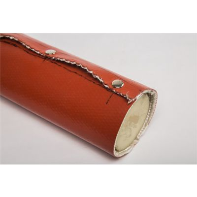 供应安徽地区粘贴式高温防火套管 开口式隔热套管批发