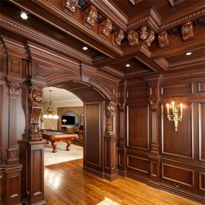 长沙原木整木家具原木酒柜、原木背景墙订做优质价格