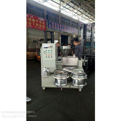 定西小型芝麻榨油机制造厂 赣州新型螺旋芝麻香油机原理 泰和车载流动型香油机价格