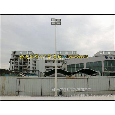 户外防水灯具 广州经济型篮球场灯杆 8米埋地式镀锌灯柱 厂家直销 欢迎定制