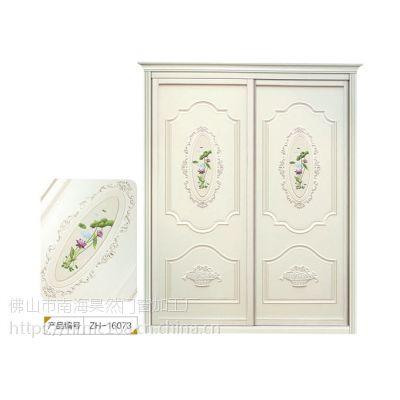 佛山厂家直销实木生态板简欧雕刻平移门定做衣柜门