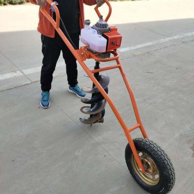 汽油螺旋打窝机富兴-贵州四冲程低耗手推挖坑机-空地植树挖窝机