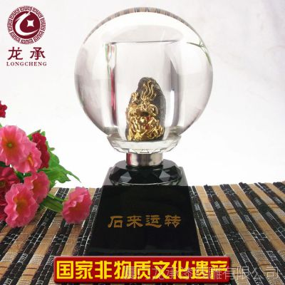 厂家直销 金石水晶球 商务会议纪念品方便携带 可免费加刻LOGO