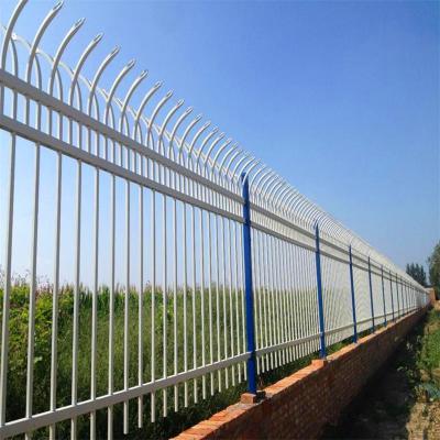 带花锌钢护栏l锌钢围墙栏杆【外围墙防护栏生产厂家】