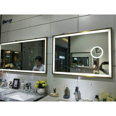 智能led发光浴室化妆镜 洗手间厕所 洗漱台挂墙式壁挂 卫浴镜子