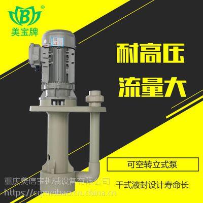 美宝厂家直销耐腐蚀立式泵pcb蚀刻立式泵 pp塑料耐酸碱槽内立式泵