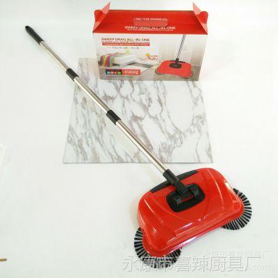 家用扫地机 懒人拖把手推扫地机扫托一体机吸尘器logo定制礼品