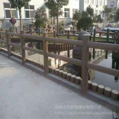 【连云港厂家直销】水泥栏杆 仿木护栏栏杆 水泥桩护栏