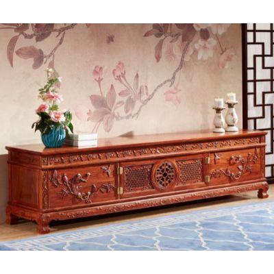 正宗红木家具刺猬紫檀客厅2米团圆电视柜 名琢世家品牌
