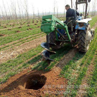佳鑫黄土高原沟坡整地挖坑机 小树挖窝打眼种植机 适合各种土质螺旋耐磨地钻机厂家