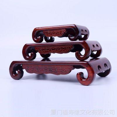 红木长方形佛像底座 实木盆景奇石玉器工艺品座托 花瓶鱼缸摆件