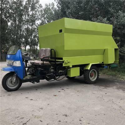 三轮车青贮撒料车 加厚耐用饲料设备 浩发