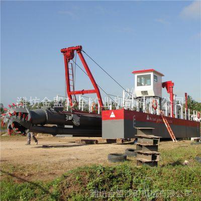 福建澜沧江抽沙船抽深10米搭配两台柴油机动力