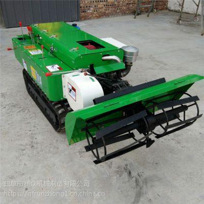 实用型履带式管理机 电启动果园除草旋耕机 自走式超低矮履带机