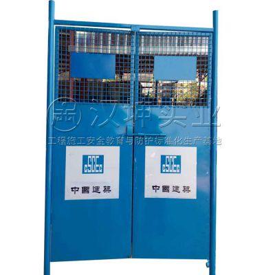 湖北施工安全防护门 施工电梯安全防护门 汉坤实业