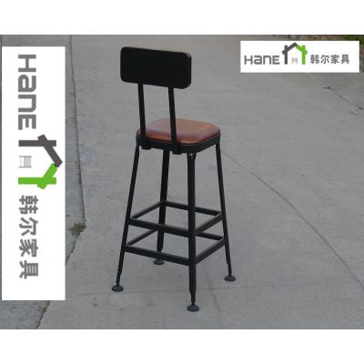 江浙沪星巴克铁艺吧椅 金属吧凳定制 上海韩尔LOFT品牌