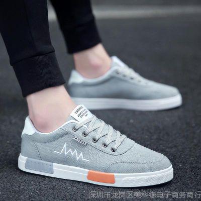 2018夏季新款韩版潮流男鞋子百搭休闲帆布鞋男士低帮板鞋透气潮鞋