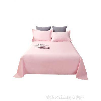 纯棉床单宿舍全棉布料加厚单人双人1.5米1.82.0m床学生单件儿童